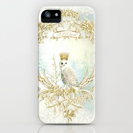 Owl Let it Snow iPhone Case