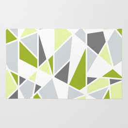 Geometric Pattern in Lime, Yellow, Gray Rug