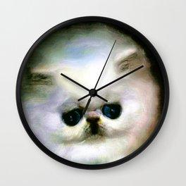 COTTONBALL KITTY Wall Clock