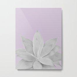 Lavender Fog Agave #1 #tropical #decor #art #society6 Metal Print