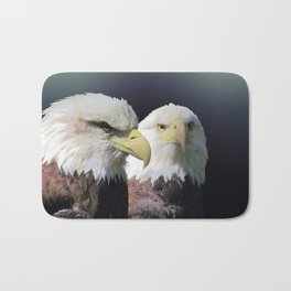 Bald Eagle Bird Wildlife Wall Art Lodge Art, Cabin Print A468 Bath Mat