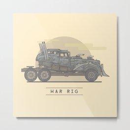 Mad Max: Fury Road - War Rig Metal Print