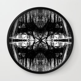 155 - Black and White abstract design Wall Clock