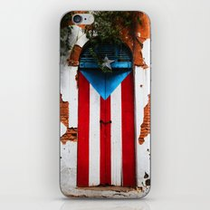 PUERTO RICO FLAG DOOR iPhone & iPod Skin