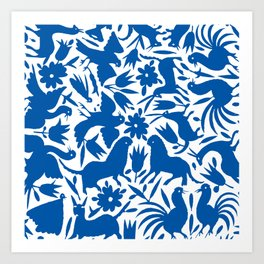 otomi blue Art Print