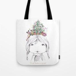 Christmas on my mind Tote Bag