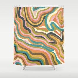 Rainbow Marble Shower Curtain