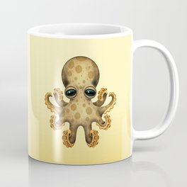 Cute Brown and Yellow Baby Octopus Coffee Mug