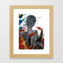 with my voice i'm calling you Framed Art Print