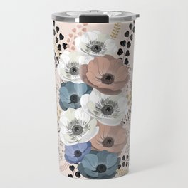 Anemones bouquet pink pastel Travel Mug