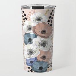Anemones bouquet pink pastel Travel Mug