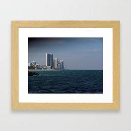 Coastal High Rise Framed Art Print