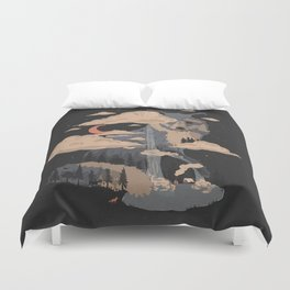 At the Foot of Fox Mountain... Duvet Cover