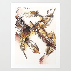 Chipewyan Feathers Art Print