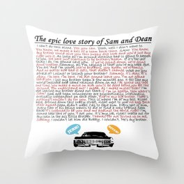 Epic Love Story of Sam and Dean Throw Pillow