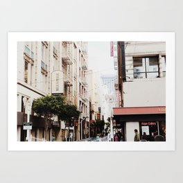 SF Side Streets Art Print