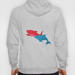 Red Shark and Dolphin Hoody
