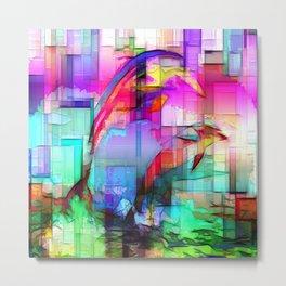 Dolphins Tim Henderson Metal Print