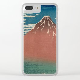 Fine Wind, Clear Weather also known as Red Fuji Clear iPhone Case