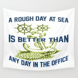 ROUGH DAY AT SEA Wall Tapestry