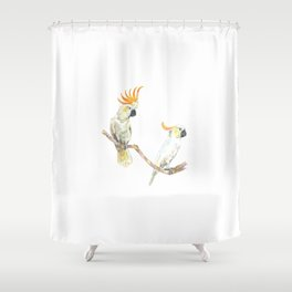 A couple of cockatoo Shower Curtain
