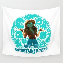 Are you entertained yet? || ScribbleNetty (Colored) Wall Tapestry
