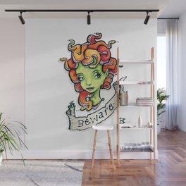 Beware Medusa Girl Wall Mural