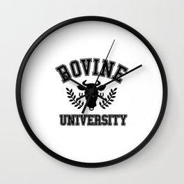 Bovine University Wall Clock