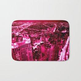 Chicago Skyline Hot Pink Bath Mat