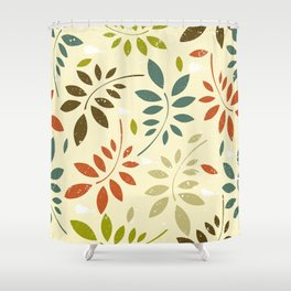 leaf illutration pattern Shower Curtain