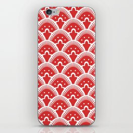 Fan Pattern Red 201 iPhone Skin