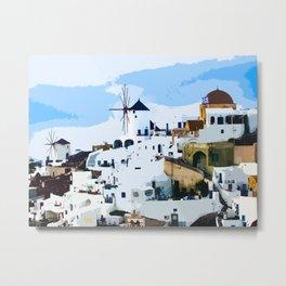 Oia - Santorini - Greece Metal Print
