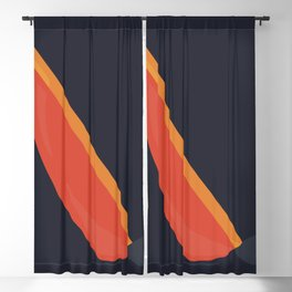Abstract sailboat Blackout Curtain