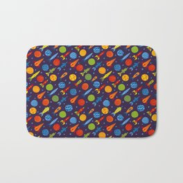 Pattern with rockets Bath Mat
