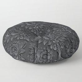Black Damask Floor Pillow