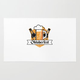 Cool Oktoberfest German Beer Festival Bier Drinkers Rug