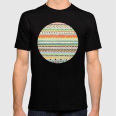 Pattern No.3 LARGE Black Mens Fitted Tee