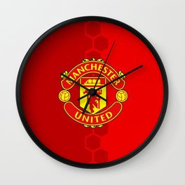 Manchester United Red Wall Clock