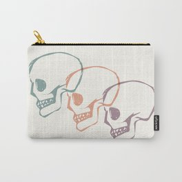 Triplet Skulls Carry-All Pouch