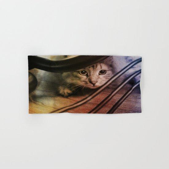 Crouching Kitty  Hand & Bath Towel