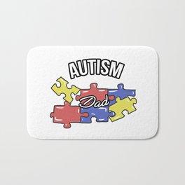 Autism Dad Autistic Awareness Day Asperger Gift Bath Mat