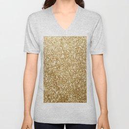 Gold glitter Unisex V-Neck