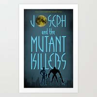 Joseph and the Mutant Killers Official Bookcover (2014) Art Print
