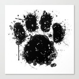 Pawprint Love Canvas Print
