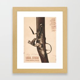 Lock, Stock and Two Smoking Barrels, Guy Ritchie, british film, Jason Statham, Dexter Fletcher Framed Art Print