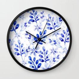 Watercolor Floral VVII Wall Clock