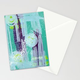 Teal Background Stationery Cards