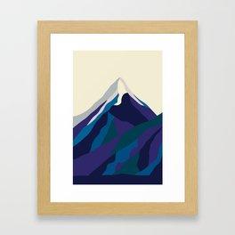 Mount Everest in Blue Framed Art Print
