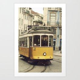 Tram numero 28 Art Print