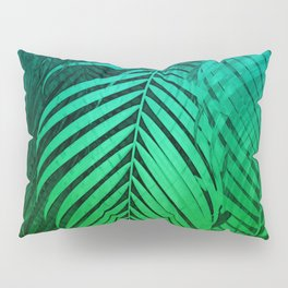 TROPICAL GREEN BLUE LEAVES Pillow Sham